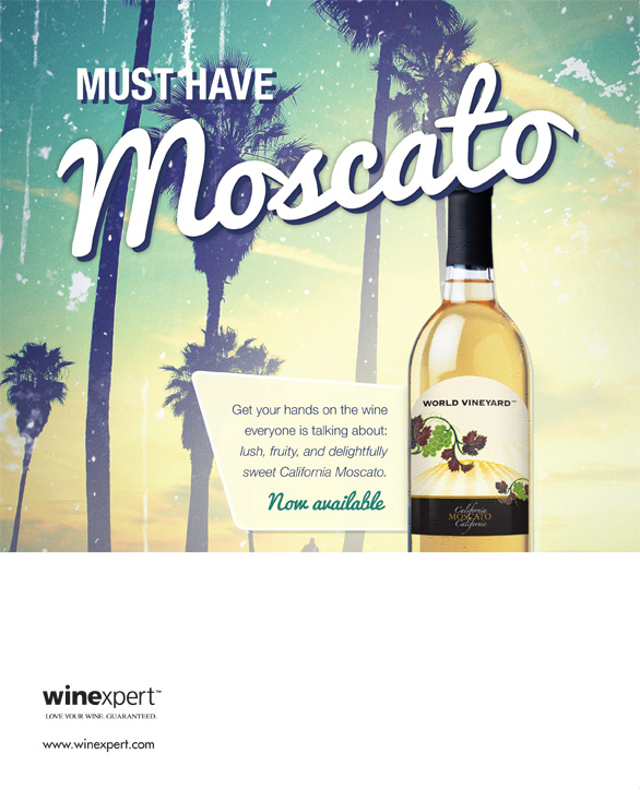 An image advertising Moscato Wine